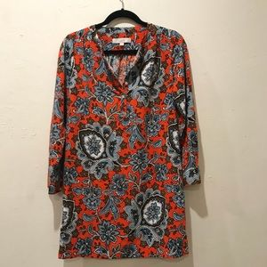 NWOT LOFT Long Sleeve Floral Dress